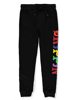 Evolution In Design Boys' Drippin Joggers by Evolution in Design in black and gray, Boys Fashion