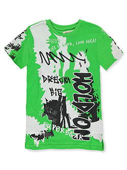 Boys' Dream Big T-Shirt by FWRD in lime, orange and yellow