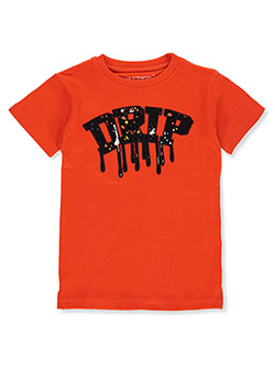 Evolution In Design Boys' Drip T-Shirt by Evolution in Design in orange, royal blue and white, Boys Fashion