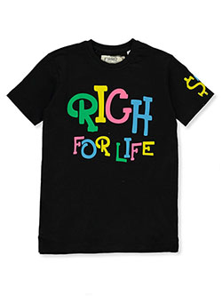 Boys' Rich For Life T-Shirt by FWRD in black and white