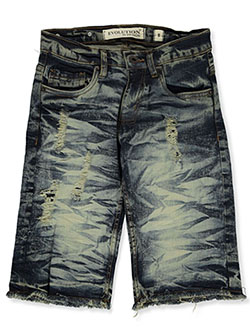 Boys' Distressed Denim Jeans by FWRD in blue/yellow and medium tint