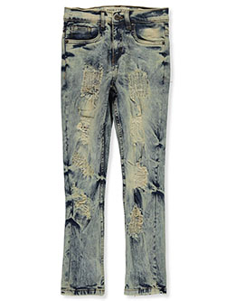 Boys' Rip Jeans by Evolution In Design in light tint and white/black