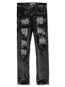 Boys' Pieced Jeans by FWRD in White/black
