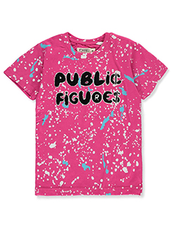 Boys' Public Figures T-Shirt by FWRD in fuchsia, royal blue and timber