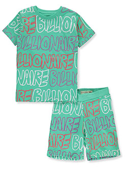 2-Piece Billionaire Shorts Set Outfit by Evolution In Design in Mint, Boys Fashion
