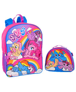 "My Little Pony ""Rainbow Dreams"" Backpack with Lunchbox - CookiesKids.com"
