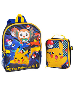 "Pokemon ""Gotta Catch 'Em All"" Backpack with Lunchbox - CookiesKids.com"