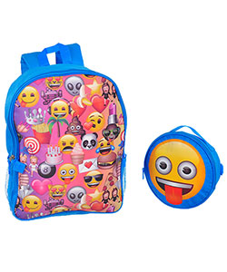 "Emoji ""Party Snacks"" Backpack with Lunchbox - CookiesKids.com"