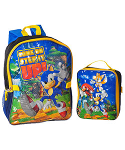 "Sonic the Hedgehog ""Step it Up"" Backpack with Lunchbox - CookiesKids.com"
