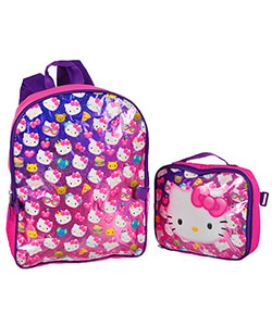 "Hello Kitty ""Glitter Party"" Backpack with Lunchbox - CookiesKids.com"