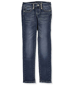 "Revolution by Revolt Big Girls' ""Frayed Cross"" Skinny Jeans (Sizes 7 – 16) - CookiesKids.com"