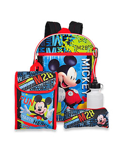 Mickey Mouse 5-Piece Backpack & Accessories Set by Disney in Multi
