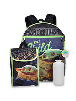 Star Wars The Mandalorian 4-Piece Backpack & Accessories Set by Disney in Multi