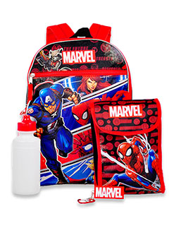 4-Piece Backpack & Accessories Set by Marvel in Multi