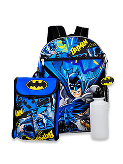 Batman 4-Piece Backpack & Accessories Set by DC in Multi
