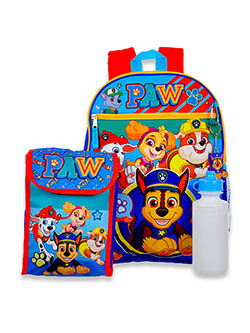 Paw Patrol 4-Piece Backpack & Accessories Set by Nickelodeon in Multi