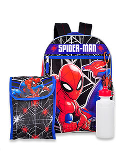 Spider-Man 4-Piece Backpack & Accessories Set by Marvel in Multi