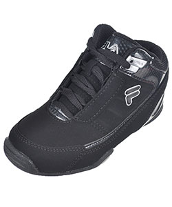 "Fila Boys' ""Change the Game"" Hi-Top Sneakers (Youth Sizes 13 – 4) - CookiesKids.com"