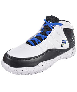 "Fila Boys' ""Sweeper"" Hi-Top Sneakers (Youth Sizes 13 – 4) - CookiesKids.com"