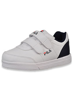 Girls' G1000 Strap Sneakers by Fila in White/navy