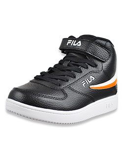 Boys' A-High Hi-Top Sneakers by Fila in black multi and white/navy
