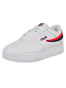 Boys' Vulc 13 Low Low-Top Sneakers by Fila in white/navy and white/navy/red