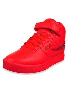 Girls' Vulc 13 Chrome Hi-Top Sneakers by Fila in Red