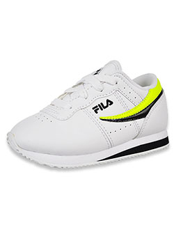 Boys' Machu Low-Top Sneakers by Fila in white/black and white/red