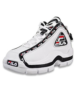 Boys' Grant Hill 2 Repeat Low-Top Sneakers by Fila in White/black/red - Sneakers