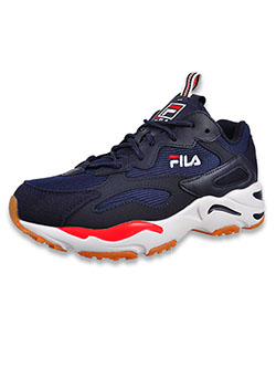 Boys' Ray Tracer Low-Top Sneakers by Fila in navy/white/red and white/navy/red - Sneakers