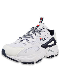 Boys' Ray Tracer Low-Top Sneakers by Fila in White/navy/red
