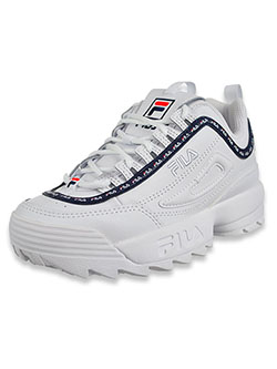 Boys' Disruptor II Repeat Sneakers by Fila in White/navy/red
