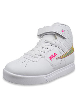 Girls' Vulc 13 Hi-Top Sneakers by Fila in White/multi, Youth