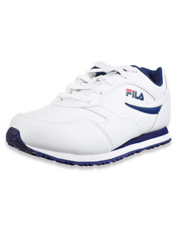 Girls' Classico Sneakers by Fila in White/navy/red