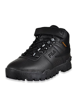 Boys' F-13 Weathertech Hi-Top Sneakers by Fila in Black, Shoes