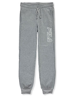 Boys' Logo Leg Joggers by Fila in black, heather gray and navy
