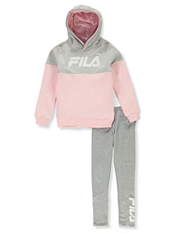 Girls' Pieced 2-Piece Leggings Set Outfit by Fila in Pink