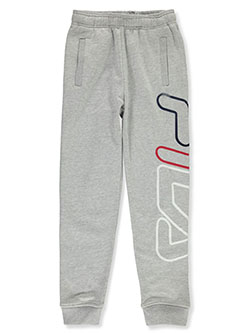 Boys' Oversized Logo Joggers by Fila in black and heather gray