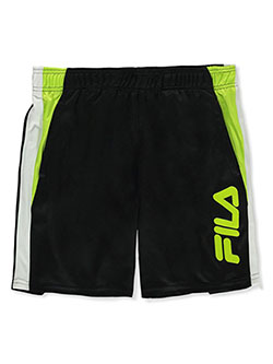 Boys' Mesh Performance Shorts by Fila in black, gray and navy
