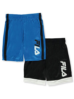 Boys' 2-Pack Athletic Shorts by Fila in Black