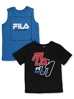 Boys' T-Shirt & Tank Top Set by Fila in Blue