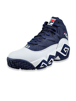 Boys' MB Hi-Top Sneakers by Fila in White/navy/red