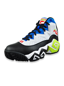 Boys' MB Hi-Top Sneakers by Fila in White/black/royal blue