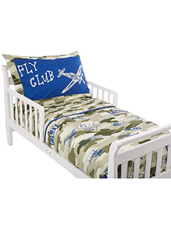 4-Piece Camo Toddler Bed Set by Top Tots in Green