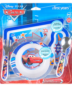 "Disney Cars ""McQueen Arrows"" 4-Piece Feeding Set - CookiesKids.com"