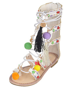 "Link Girls' ""Glamour Gladiator"" Sandals (Toddler Sizes 9 – 12) - CookiesKids.com"