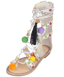 "Link Girls' ""Glamour Gladiator"" Sandals (Youth Sizes 13 – 3) - CookiesKids.com"