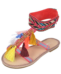 "Link Girls' ""Festive Fringe"" Sandals (Toddler Sizes 9 – 12) - CookiesKids.com"