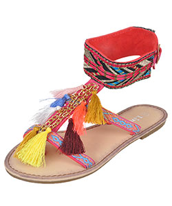 "Link Girls' ""Festive Fringe"" Sandals (Youth Sizes 13 – 3) - CookiesKids.com"