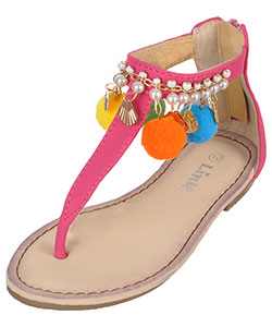 "Link Girls' ""Shell Chic"" Sandals (Toddler Sizes 9 – 12) - CookiesKids.com"